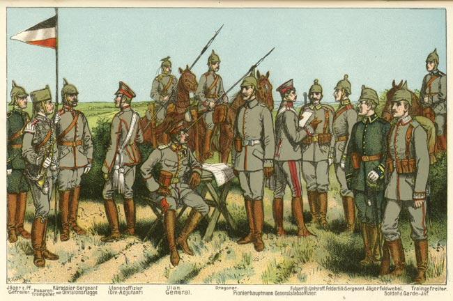 Field grey uniforms of the Imperial German Army